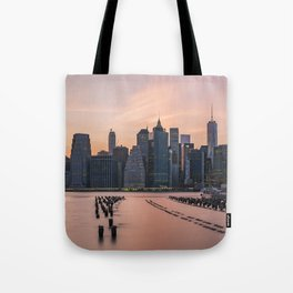 Sunset New York City Tote Bag