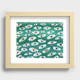 Abstract Eyes Print 2 Recessed Framed Print