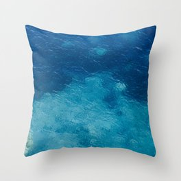 Sea with Clear Blue Waters Throw Pillow