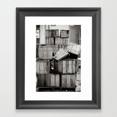 Stacks... Framed Art Print