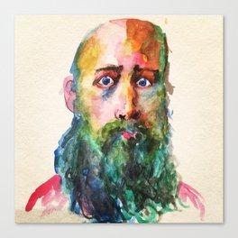 Sir Rainbow Beard Canvas Print