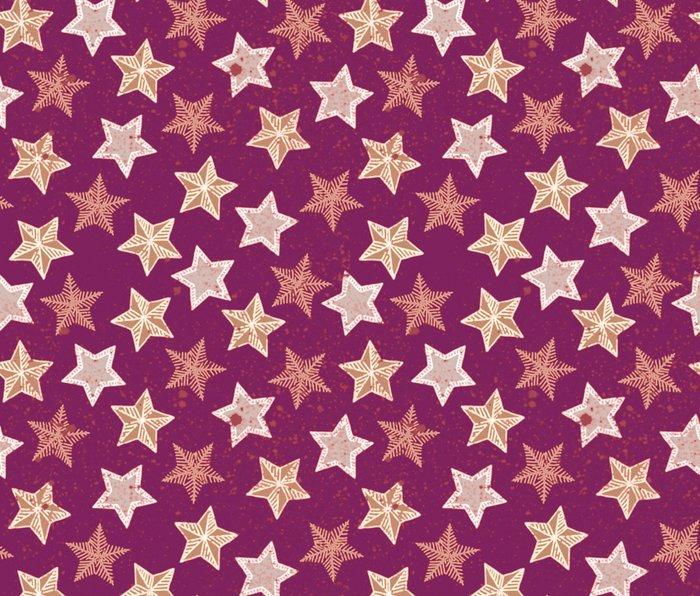 Festive Stars Purple Metal Travel Mug