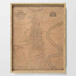 Vintage Map of Concord NH (1851) Serving Tray