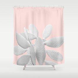 White Blush Cacti Vibes #1 #plant #decor #art #society6 Shower Curtain