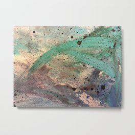 Sea Side Splatter Metal Print
