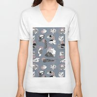 mineral V-neck T-shirts featuring Mineral Rocks  by jessicasammondesign