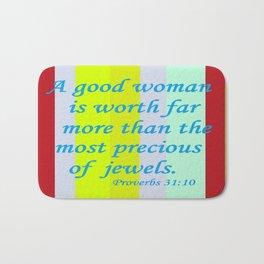 A Good Woman Bath Mat