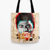 the godfather Tote Bags featuring Godfather by Marko Köppe