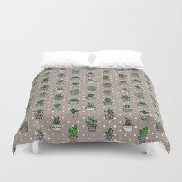 Cactus & Succulents Duvet Cover