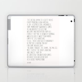 The Guest House #poem #inspirational Laptop & iPad Skin