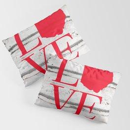 Ohio Love Wood Print Pillow Sham