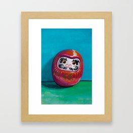 Daruma doll - talisman of good luck Framed Art Print