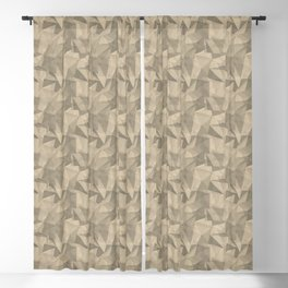 Abstract Geometrical Triangle Patterns 2 Benjamin Moore 2019 Trending Color Putnam Ivory Cream HC-39 Blackout Curtain