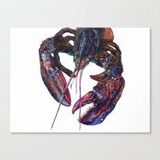 Maine Lobster Art - Watercolor Print Canvas Print