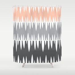 Accordian | peach+grey+slate Shower Curtain