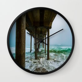 Murky Dreams - HB Pier 2016 Wall Clock
