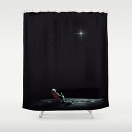 Space Chill Shower Curtain
