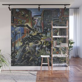 American Masterpiece 'Automobile Accident' by Howard Taft Lorenz Wall Mural