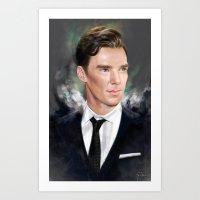benedict Art Prints featuring Benedict by Raiecha