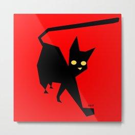 The Strut (Black Cat) Metal Print