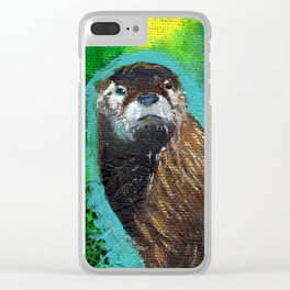 Otter Glow Clear iPhone Case