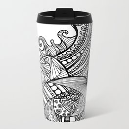 Zentangle Snail Metal Travel Mug