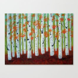 Atumn Birch trees - 5 Canvas Print