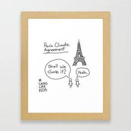 Paris Climate Agreement Framed Art Print