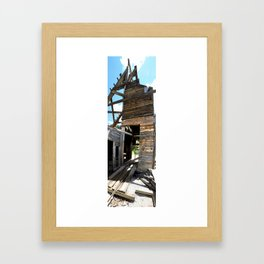 Exploring the Longfellow Mine of the Gold Rush - A Series, No. 7 of 9 Framed Art Print