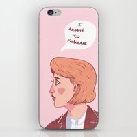 i want to believe iPhone & iPod Skins featuring I Want To Believe by Charlotte Foley