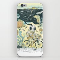cycling iPhone & iPod Skins featuring Cycling in the Deep by Dushan Milic