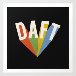 Letters : Daft II Art Print