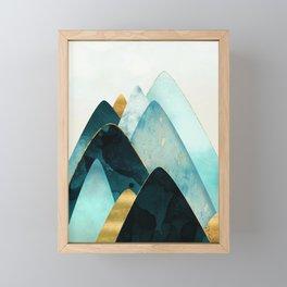 Gold and Blue Hills Framed Mini Art Print