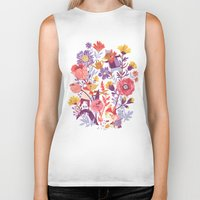 school Biker Tanks featuring The Garden Crew by Teagan White