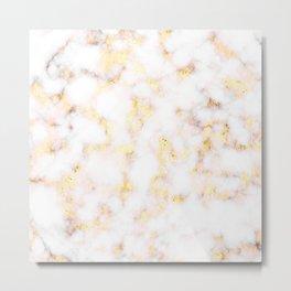 Golden Marble Metal Print