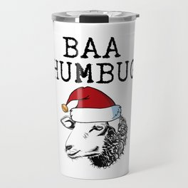 Baa Humbug Funny Bah Humbug Sheep Design Travel Mug