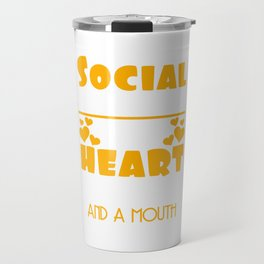 I'm A Social Worker I Was Born With My Heart On My Sleeve T-shirt Design Family Assistance Problems Travel Mug