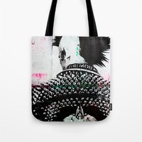 punk Tote Bags featuring PUNK by Taylor Callery Illustration
