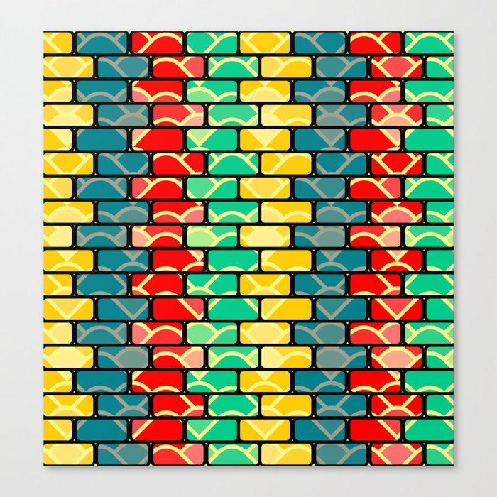 Colorful bricks Canvas Print