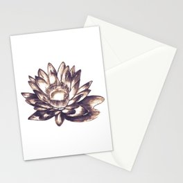 Lilly loto flower draw Stationery Cards