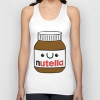 nutella Tank Tops featuring Nutella Monster by Tushietweet