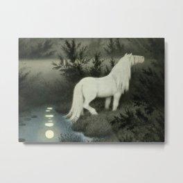 """""""Water Sprite"""" by Theodor Kittelsen Metal Print"""