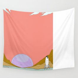 A Drove Sunset Wall Tapestry