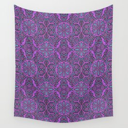Poppy Pods Fuchsia and Turquoise Wall Tapestry