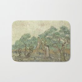Vincent van Gogh The Olive Orchard 1889 Painting Bath Mat