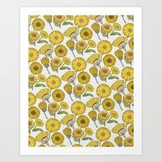 Calendula Florals Art Print