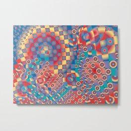 retro psychedelic Metal Print