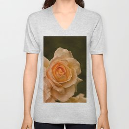 Dew Kissed Rose Floral Unisex V-Neck