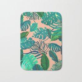 Summer Tropical Leaves Bath Mat