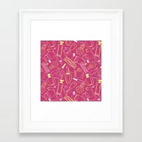 90s Framed Art Prints featuring Perfumed 90s by oleynikka